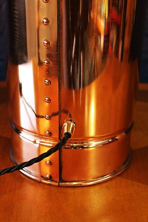 Upcycled recycled bespoke copper brass fire extinguisher lamp light 5