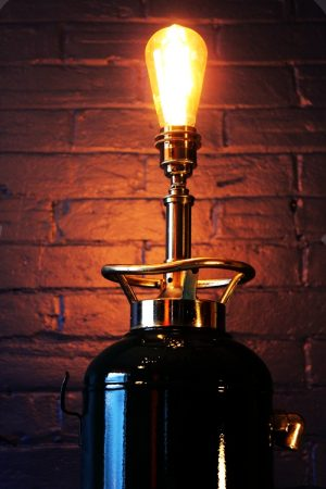 Upcycled recycled bespoke painted fire extinguisher lamp light 3