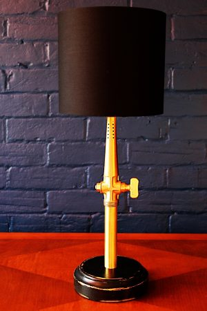 Upcycled recycled bespoke brass beer barrel tap lamp light 13