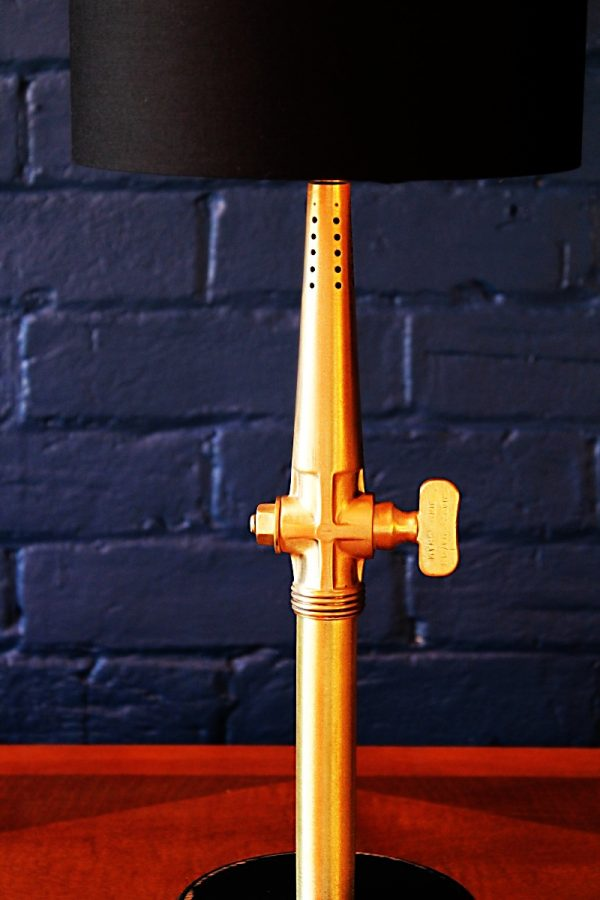 Upcycled recycled bespoke brass beer barrel tap lamp light 14