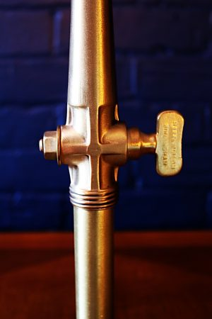 Upcycled recycled bespoke brass beer barrel tap lamp light 16