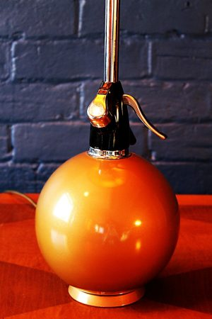 Upcycled recycled bespoke gold soda syphon branch lamp light 1