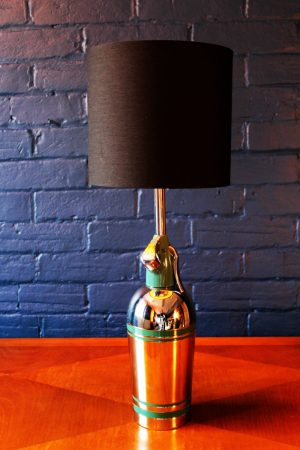Upcycled recycled bespoke green soda syphon branch lamp light 3