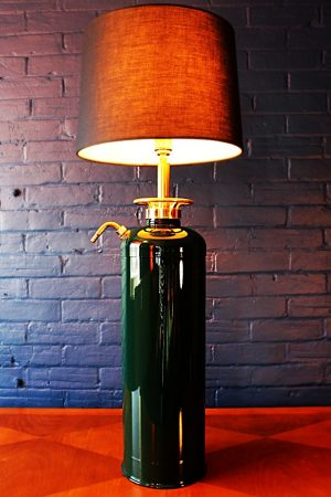 Upcycled recycled bespoke painted fire extinguisher lamp light 6