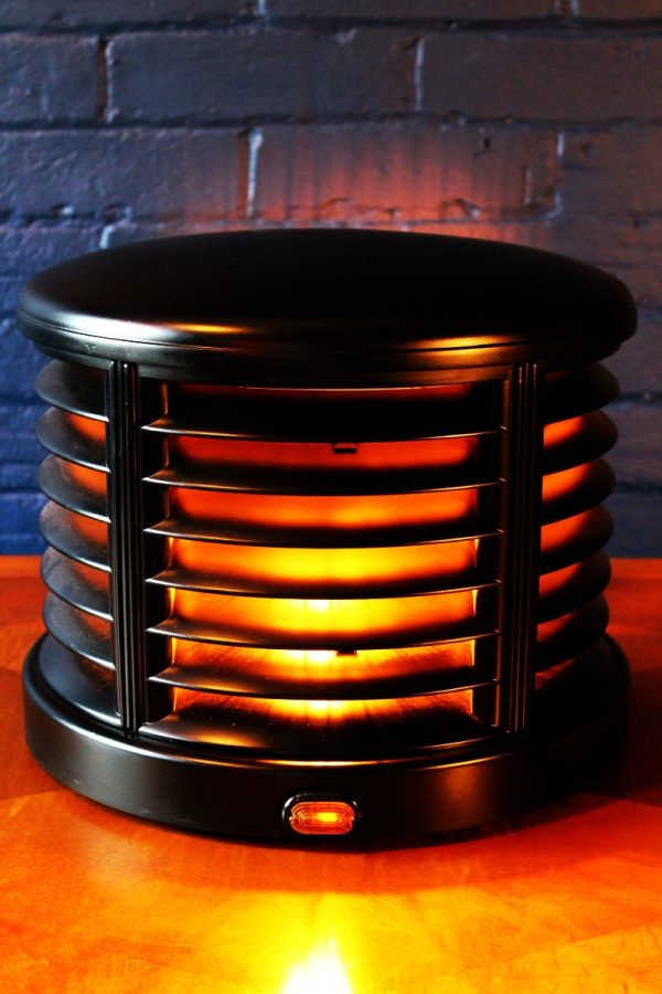 Upcycled recycled bespoke vintage heater lamp light 1