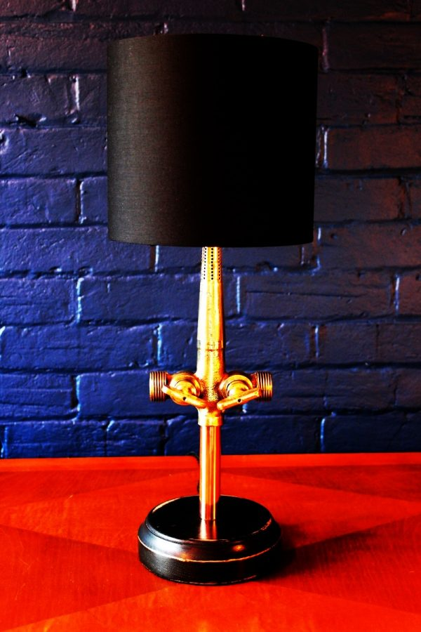 Upcycled recycled bespoke brass beer barrel tap lamp light 5
