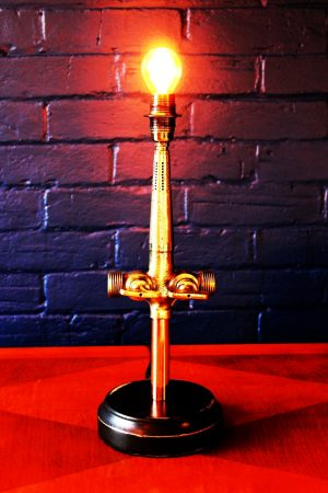Upcycled recycled bespoke brass beer barrel tap lamp light 8