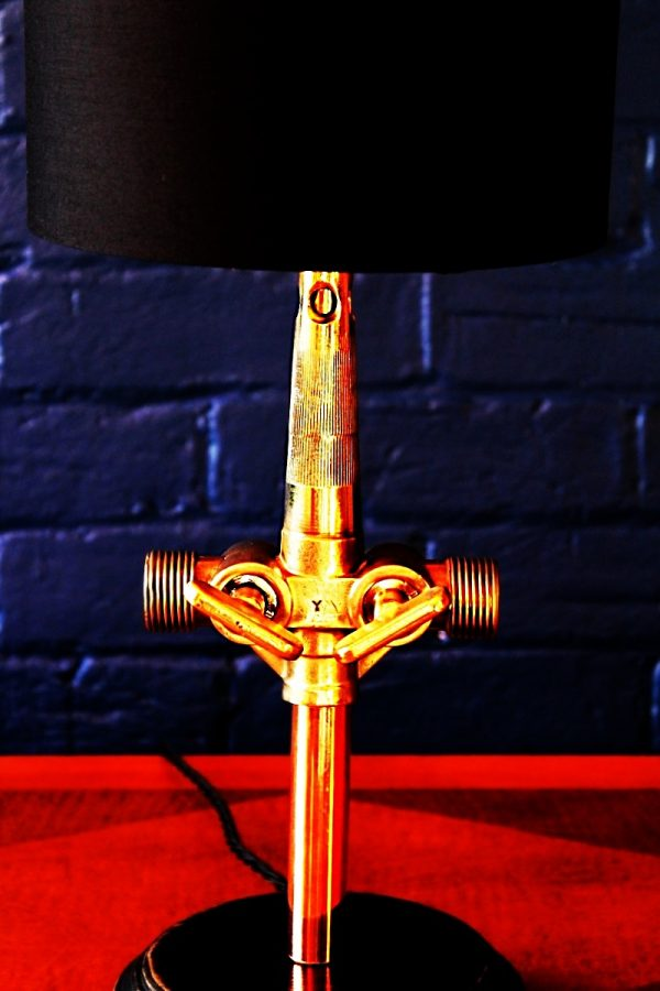 Upcycled recycled bespoke brass beer barrel tap lamp light 10