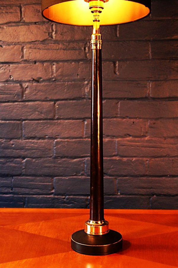 Upcycled recycled bespoke black copper fire branch lamp light 2