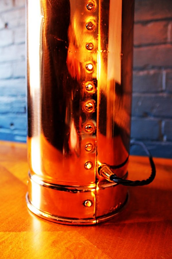 Upcycled recycled bespoke copper brass fire extinguisher lamp light 7