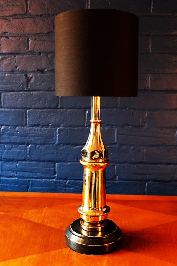 Upcycled recycled bespoke brass branch lamp light 4