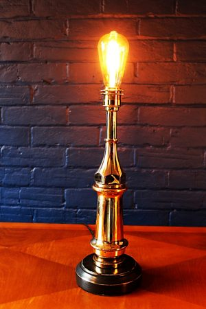 Upcycled recycled bespoke fire brass branch lamp light 5