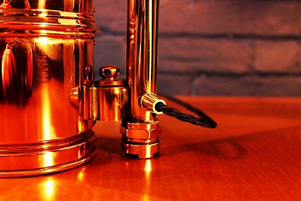 Upcycled recycled bespoke copper brass sprayer lamp light 5
