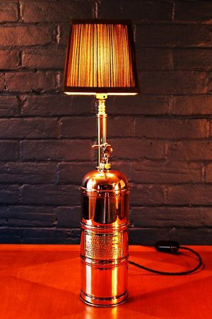 Upcycled recycled bespoke copper brass sprayer lamp light 8