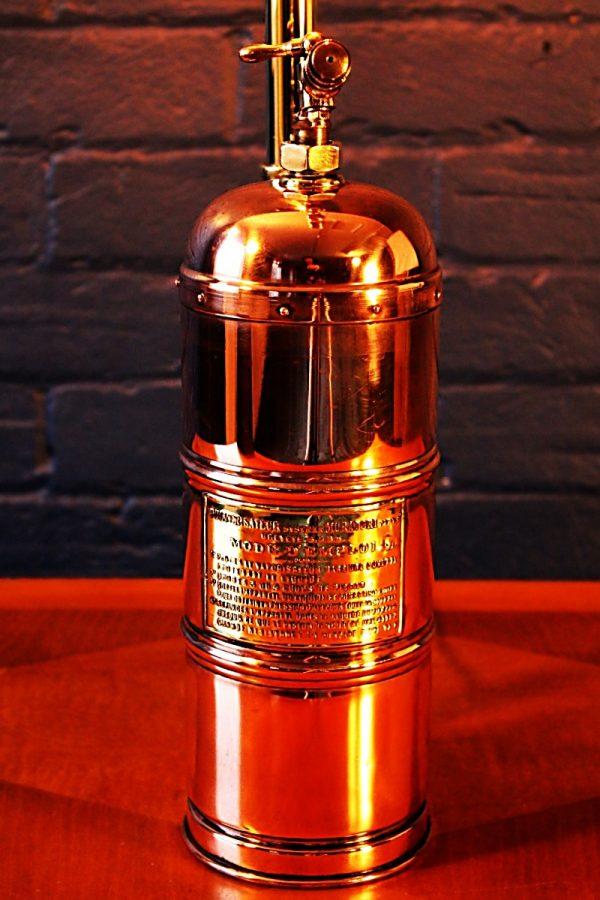 Upcycled recycled bespoke copper brass sprayer lamp light 10