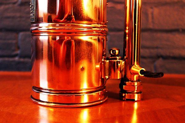 Upcycled recycled bespoke copper brass sprayer lamp light 12