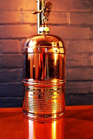 Upcycled recycled bespoke copper brass sprayer lamp light 14