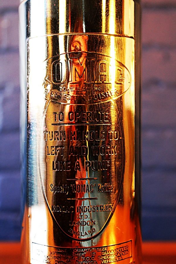Upcycled recycled bespoke brass fire extinguisher lamp light 2
