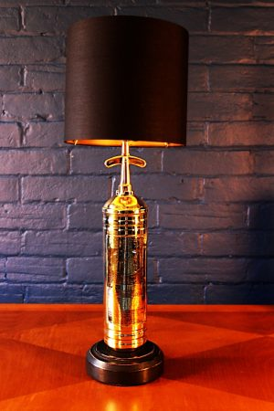 Upcycled recycled bespoke brass fire extinguisher lamp light 5