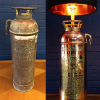Upcycled recycled copper brass fire extinguisher lamp lighting
