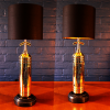 Upcycled recycled bespoke brass fire extinguisher lamp light 10
