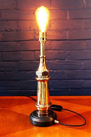 Upcycled recycled bespoke fire brass fire branch lamp light 7