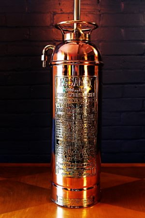 Upcycled recycled copper brass fire extinguisher lamp light 56