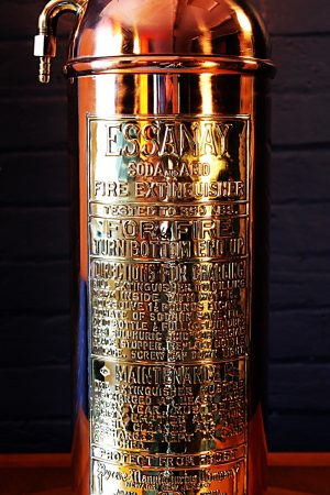 Upcycled recycled copper brass fire extinguisher lamp light 52