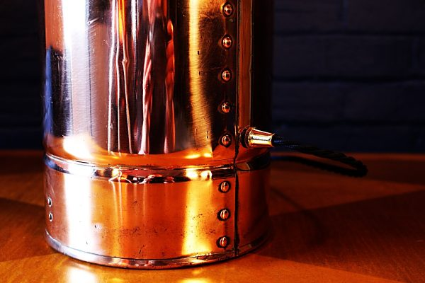 Upcycled recycled copper brass fire extinguisher lamp light 55