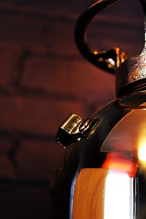 Upcycled recycled brass fire extinguisher table lamp light 10