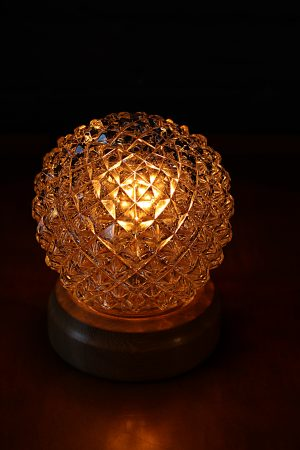 Glass globe pineapple vintage table lamp 4