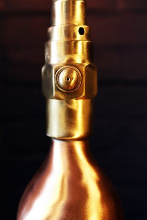 Upcycled recycled brass copper fire extinguisher table lamp light 33