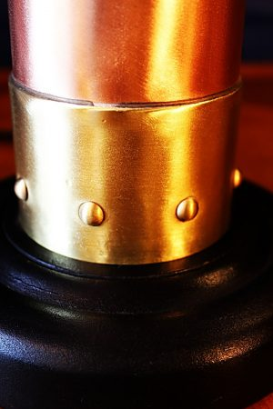 Upcycled recycled brass copper fire extinguisher table lamp light 34