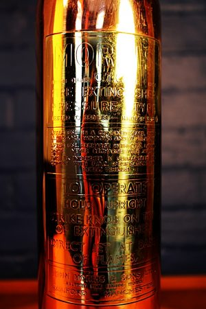 Upcycled recycled brass copper fire extinguisher table lamp light 43