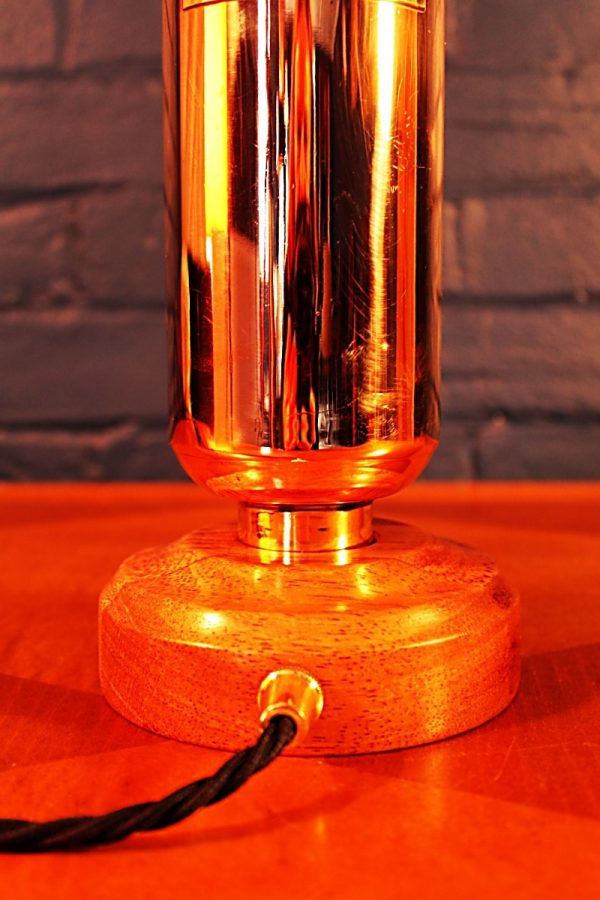 Upcycled recycled brass copper fire extinguisher table lamp light 46