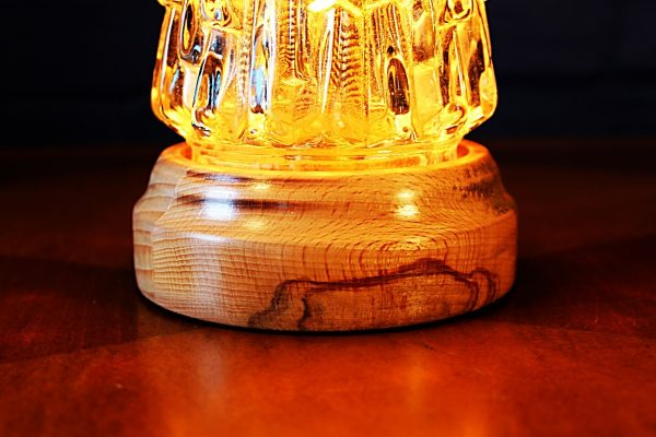 Upcycled recycled repurposed vintage glass pineapple table lamp light 3