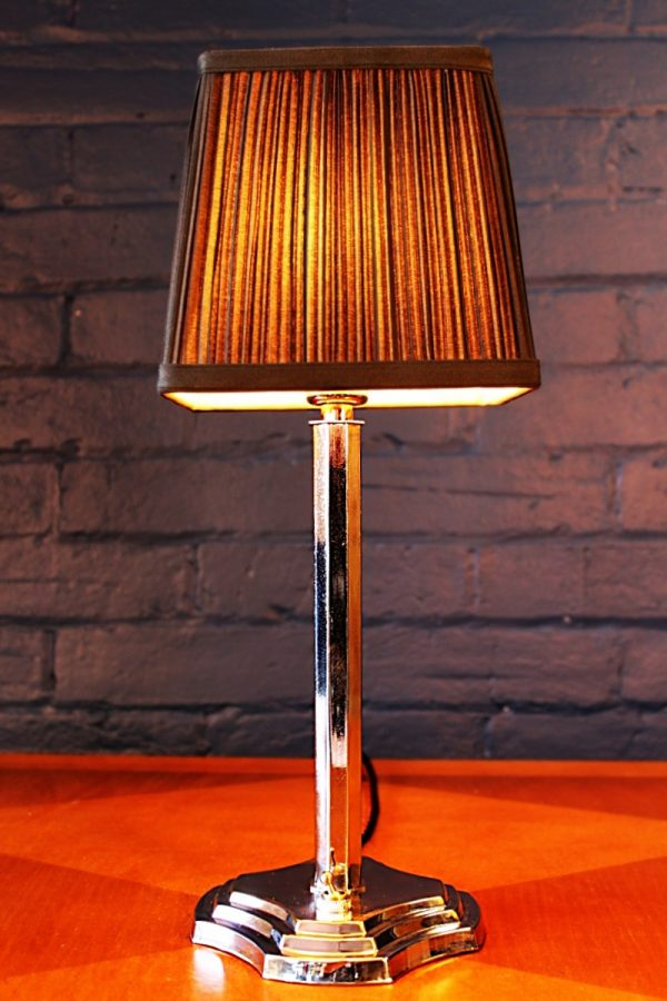 Art Deco chrome table lamp light 6