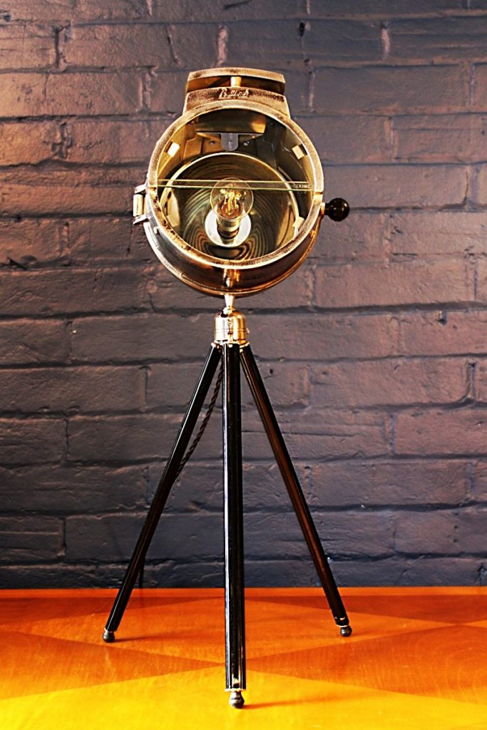 Bullfinch vintage tripod lamp upcycled recycled table standard industrial 1