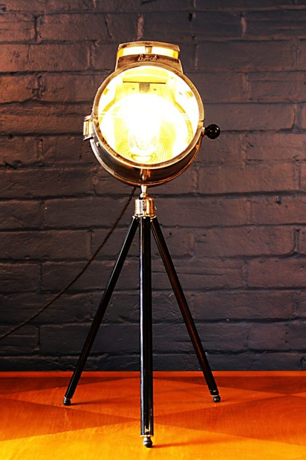 Bullfinch vintage tripod lamp upcycled recycled table standard industrial