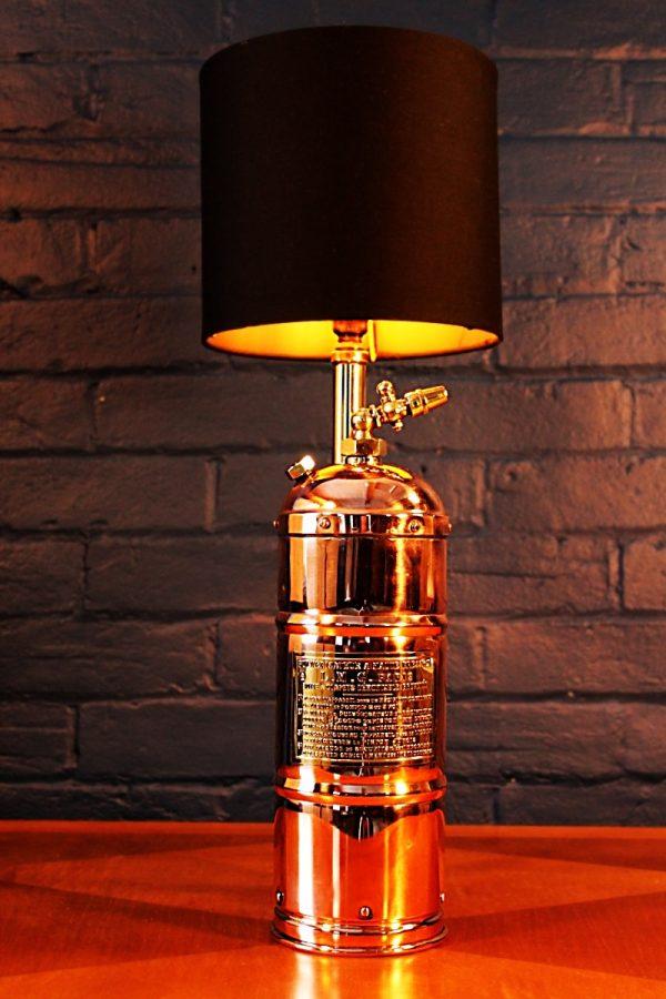Upcycled recycled bespoke copper brass sprayer lamp light 8