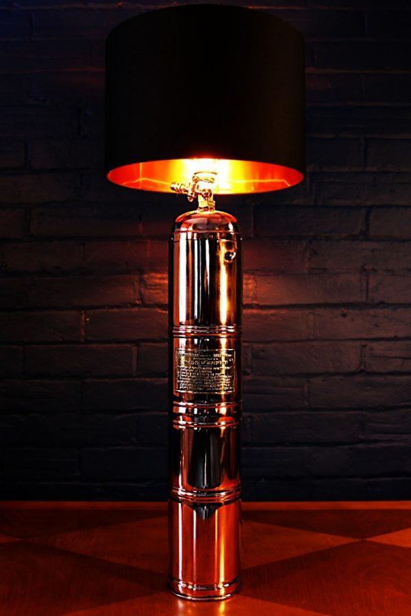 Upcycled recycled bespoke copper brass sprayer lamp light 33