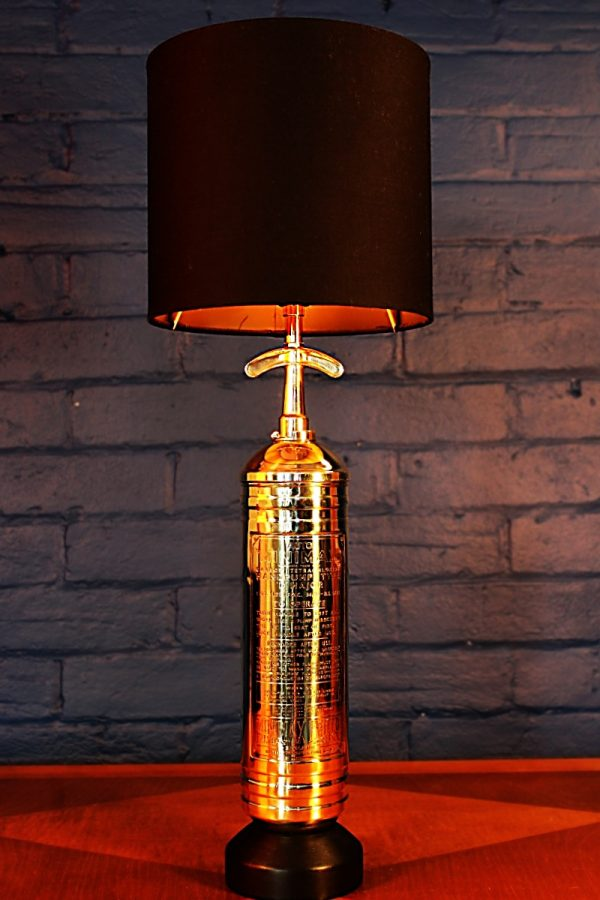 Fire extinguisher table lamp 111