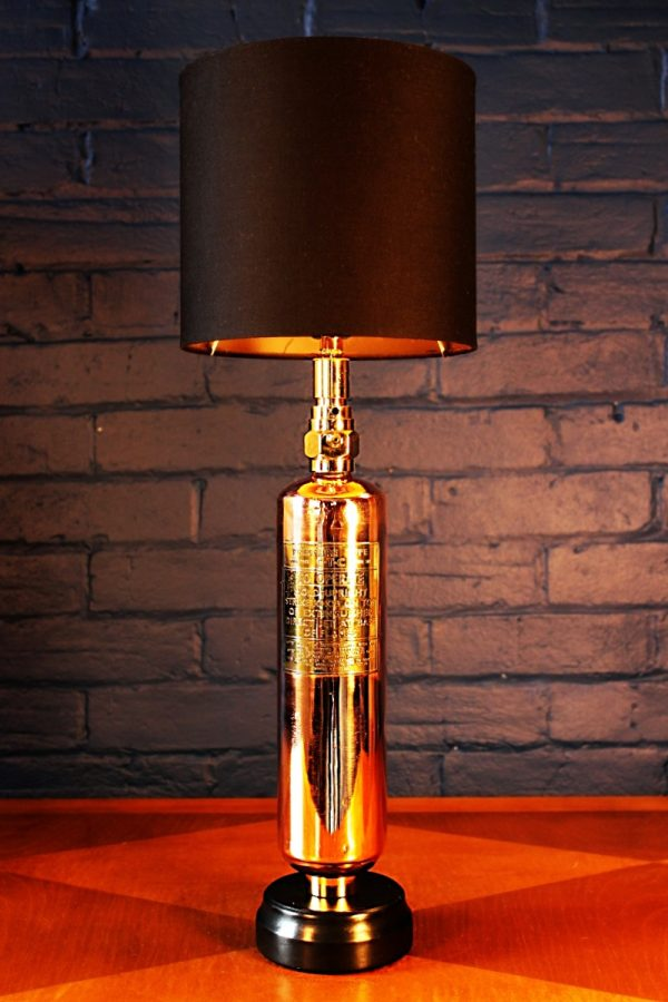 CTC fire extinguisher vintage lamp