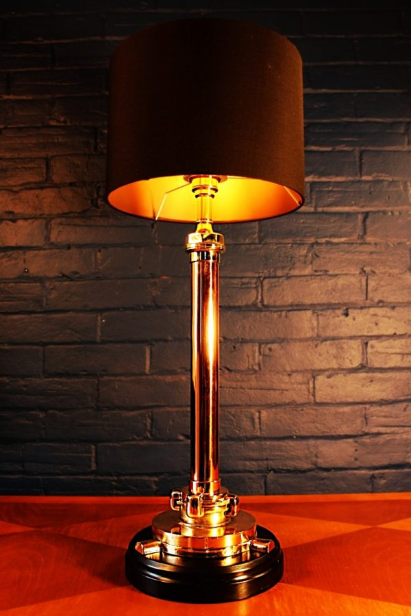 Brass and copper fire branch lamp