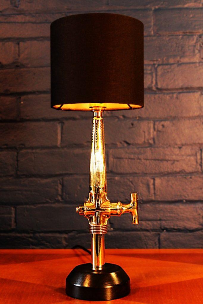 Bespoke lighting Beer barrel tap table lamp for sale