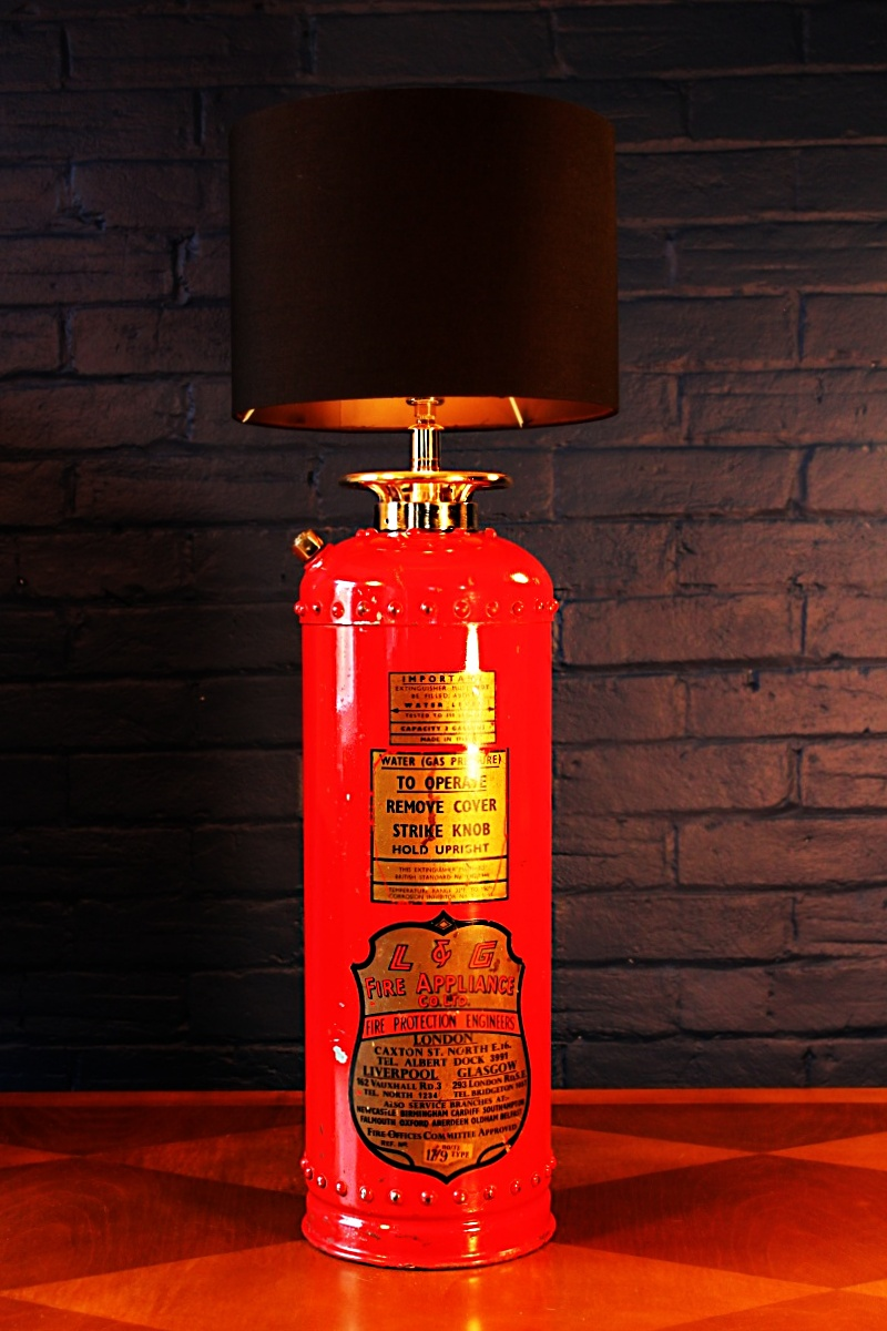 Fire extinguisher table lamp by L&G for sale