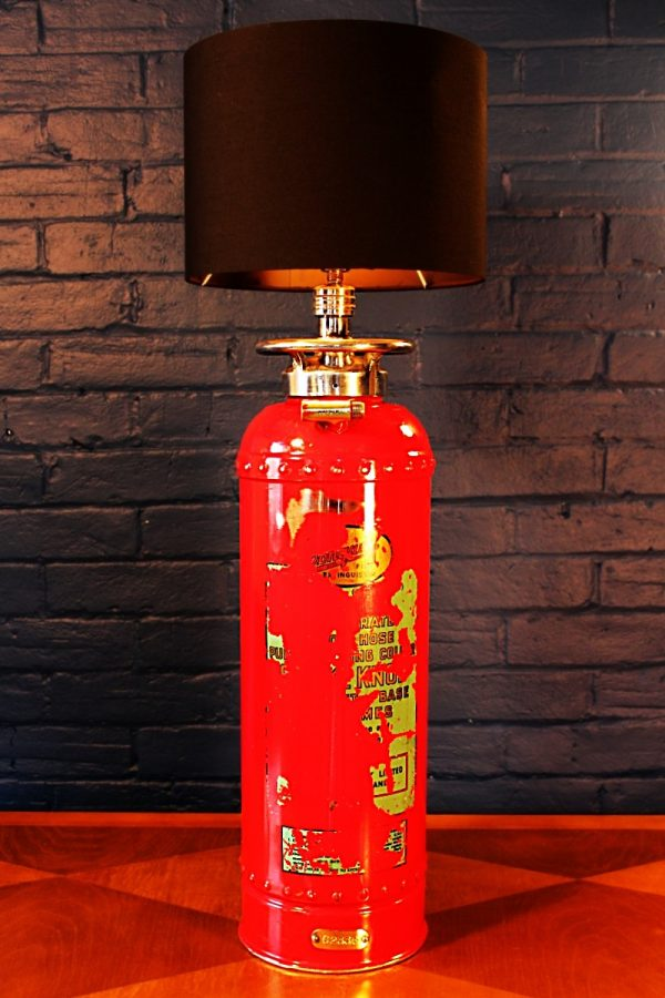 Fire extinguisher table lamp red Conquest for sale
