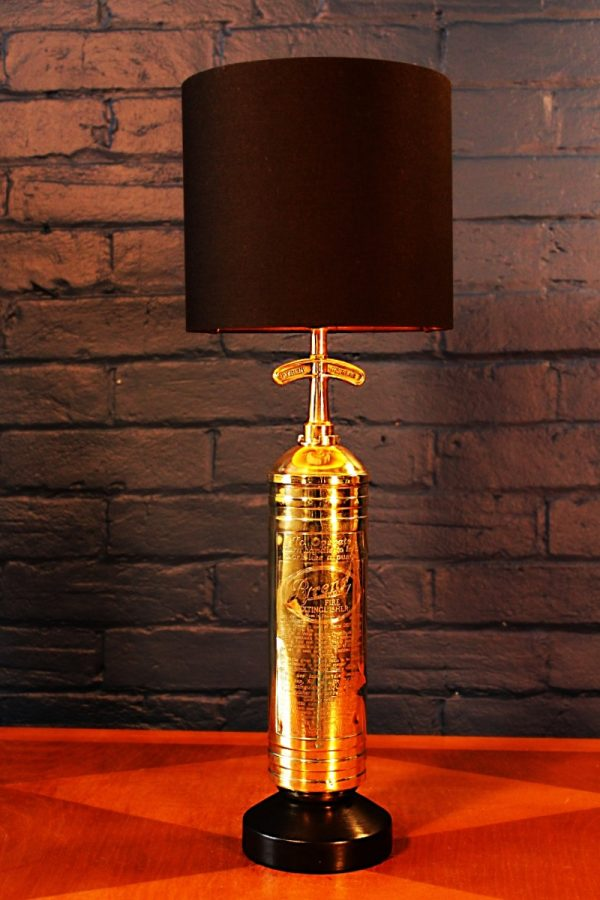 Fire extinguisher lamp by Pyrene for sale