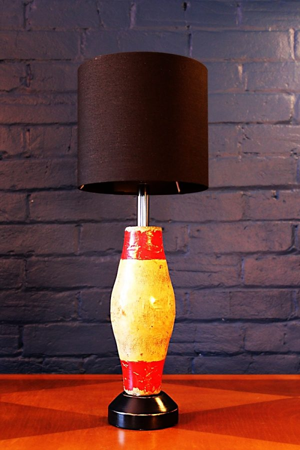 Vintage wooden skittle table lamp for sale 10
