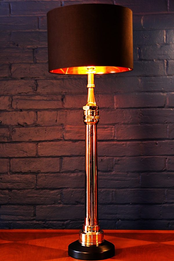 Shand and Mason brass copper fire branch table lamp for sale